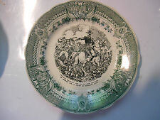 sarreguemines assiette Napoleon plate old french 1860 faience,bataille