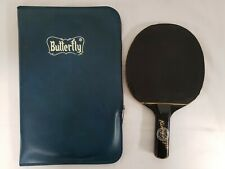 Rare Vintage Butterfly Kenny Style Ping Pong Paddle With Case - Good Used Cond.