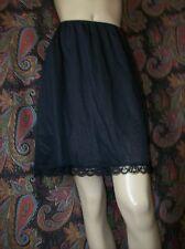 Vintage Deena Black Silky Nylon Half Slip Lingerie M