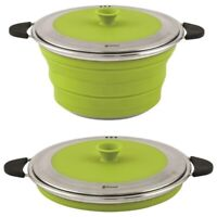 Outwell Collaps Kochtopf Pot With Lid 2.5L faltbar auf ca. 5cm Edelstahl UVP 62€