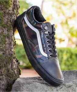 Vans Old Skool MTE Black/Camo Men's Classic Skate Shoes Size 9.5