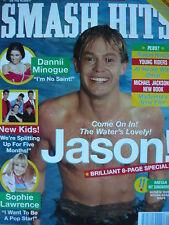 SMASH HITS 10/7/91 - JASON DONOVAN - NEW KIDS ON THE BLOCK - DANNII MINOGUE