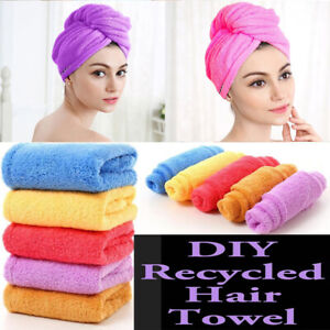 Microfibre Magic Hair Fast Drying Dryer Turban Dry Towel Bath Wrap Hat Quick Cap