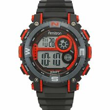 Armitron Sport Mens Chronograph Red And Black Digital Watch 40/8284RED
