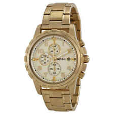 Fossil Dean Chronograph Champagne Dial Gold-tone Men's Watch FS4867