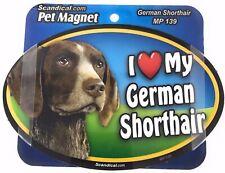 I Love My German Shorthair Pointer Magnet Gifts, Cars, Trucks. Lockers,