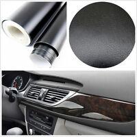 Car SUV Interior Console Dashboard 3D black Leather Texture Film Vinyl Sticker