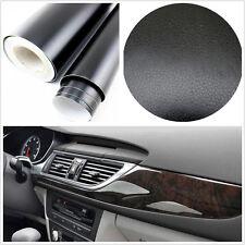 AUTO SUV Interior CONSOLE CRUSCOTTO 3D neri in pelle Texture Pellicola Adesivo Vinile