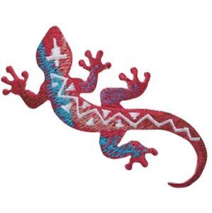 "Lizard Applique Patch - Southwest, Reptile Badge 3"" (Iron on)"