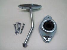 """RV Camper Trailer Door Stop Holder Latch / Metal Plunger Kit  4.75"""" Angled Rod"""
