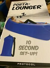 Inflatable Lounger Porta-Lounger Protocol New Unused NEW IN BOX