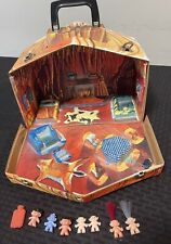 VINTAGE 1960's Standard Plastic Products Vinyl TROLL HOUSE + Fold Out Carry Case