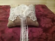 RING BEARER PILLOW RUSTIC BRAND NEW