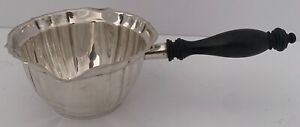 GORHAM STERLING CHIPPENDALE BRANDY SAUCE BURNER PAN EBONY HANDLE MADE IN 1949