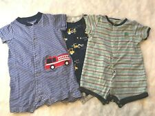 Lot of 3 Carter's Boy Short Sleeve Body Suits, 18M