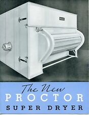 "Vintage Industrial Sales Brochure: ""The New Proctor Super Dryer"""