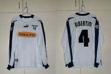 MAGLIA LAZIO AWAY ALBERTINI 03/04 MATCH WORN ISSUED AC MILAN XL