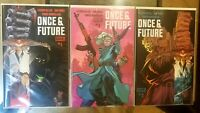 Once and Future #1 1st print + 5th print variant + #2 NM+ BOOM! Studios comics