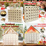 Bois de Noel Calendrier de l'Avent House Box LED Light with Drawers Home