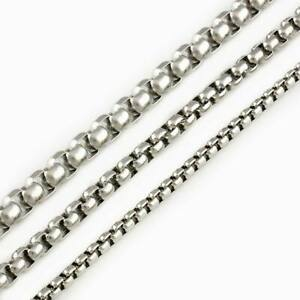 Stainless Steel Box Chain Necklace 3, 4 or 5mm Thickness