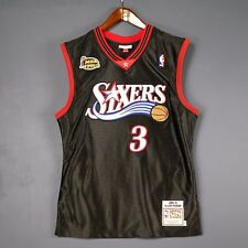 100% Authentic Mitchell Ness Allen Iverson Sixers NBA Finals Jersey Size 40 M