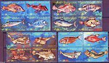 Libyan Arab Jamahiriya 1983 ~ Fishes ~ Stamp Blk set MNH