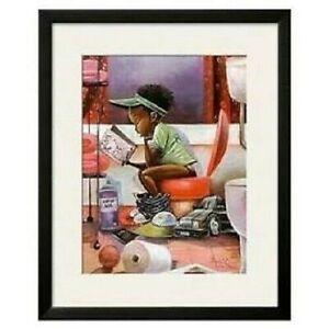 "FRAMED"" The Thinker"" by Frank Morrison African American Child Art"