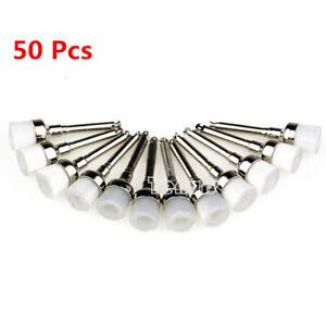 50pcs Dental Polishing Brush Polisher Prophy Rubber Cup Latch white Bowl shape