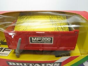 BRITAINS 9572 MF200 DUMP TRAILER  Red Massey Ferguson 1986 NOS  Made in England