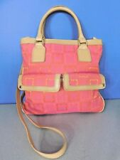 LIZ CLAIBORNE NEW YORK PINK, ORANGE & TAN SATCHEL, CROSSBODY BAG, HANDBAG, PURSE