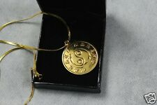 Bruce Lee Original Necklace Pendant Medallion Collection 24k Gold Plated RARE