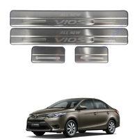 For 13-16 Toyota Belta Viso Yaris Sedan  4 Doors Scuff Plate Door step protect
