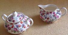 Dorset CHEERY CHINTZ Erphila Germany sugar and creamer