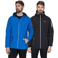 DLX Delgado Waterproof DLX Mens Softshell Jacket Black Rain Coat