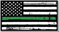 Thin Green Line Grunge Flag Decal Army Car Truck Military Jeep Sticker Marine 3M