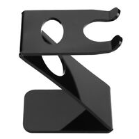 Acrylic Z-Shape Stand Barber Salon Brush Shaving Tools Holder Rack Black