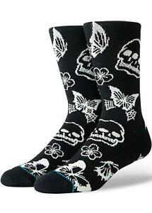 Stance Triple Skull Socks Black