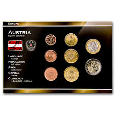 2002 Austria 8-Coin Euro Set - SKU #34954