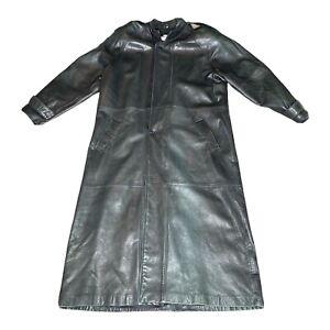 Vintage Women's Giorgio Armani Genuine Leather Black Leather Jacket/Coat Size 42