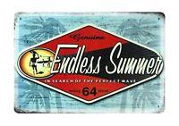Vendedor de Estados Unidos-San Diego Playa Surf Endless Summer Tin Metal Sign Arte Y Decoración
