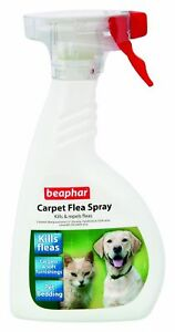 Beaphar Tappeto Antipulci Spray 400ml - Distrugge Uccide & Respinge Pulci