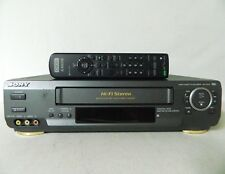 Sony SLV-AX10 4-Head Hi-Fi VCR VHS Recorder Player w/ Remote - Tested & Working