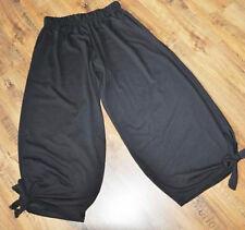 Lagenlook Refinado Pantalones Bombachos Nudo Jersey negro 46,48, 50,52, XL, XXL,