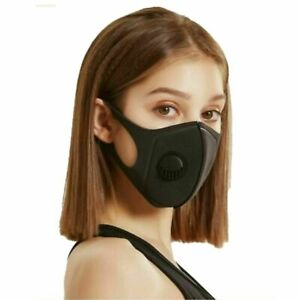 3 pcs Breathable Air Flow Washable Face Mouth Protection mask with filter