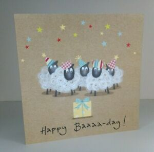 Greeting Card - Happy Baaaa-day Sheep Birthday (Blank Inside)