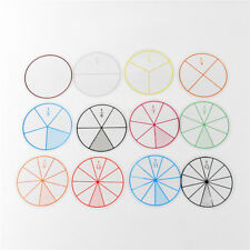 Clear Line Numbered Fractions Circles Chips Early Learning Toys N7