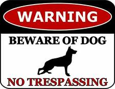 Warning Beware of Dog No Trespassing German Shepherd Dog Sign Sp2805