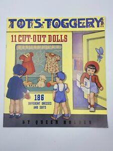 Merrimack Queen Holden 1985 Reproductions Tots-Toggery Paper Dolls - Uncut