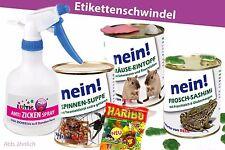 4erSet-Konserve Überraschung Geburtstag Dosen Zicken-Spray Maus Frosch Spinne
