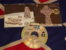 BLACK SABBATH - headless cross  CD 1989 I.R.S. LIMITED EDITION plus Poster